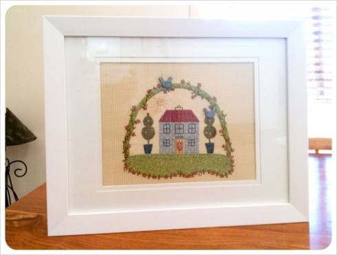 """Our Home"" applique - framed"